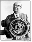 Félix Wankel présente son invention (dans sa première version DKM)