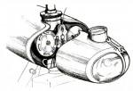 Le nez contient tout l'appareillage électrique, le compteur et le phare.