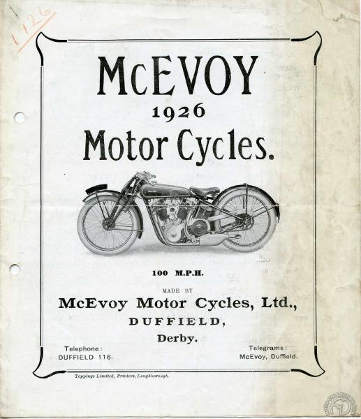 Catalogue Mc Evoy 1926.