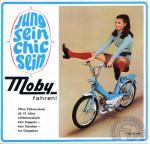 1966 : Le ton est donné : mini-jupe et jambes en l'air. Un thème que le service publicitaire déclinera dans toute l'Europe. Ici en Allemagne où le Cady est rebaptisé Moby.