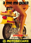 """1973 : La publicité italienne, se concentre sur les dessous (du X7) avec ce slogan """"À moi, ça me plaît!""""… à nous aussi."""