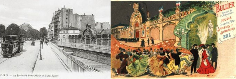 Détruit en 1940, le Grand Bal Bullier était tout en haut du Boulevard Saint-Michel