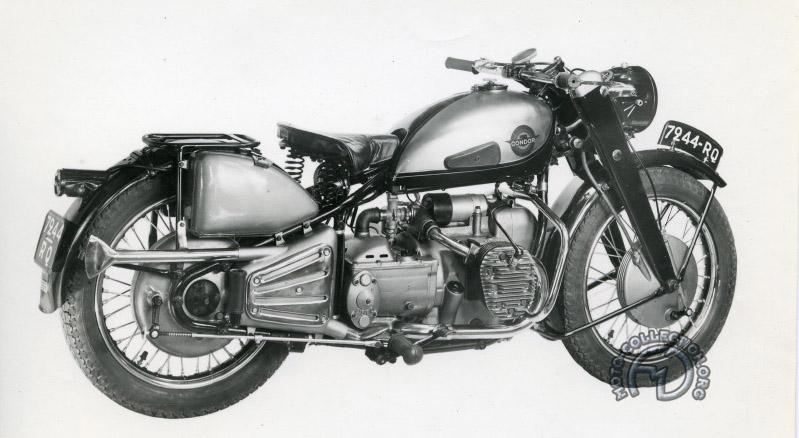La C 580 dans sa première version de 1948 avec arbre de transmission à droite et sans boîte relais annonce 14,5 ch à 3000 tr/min et 17,2 à 4 000 ce qui permet tout juste d'emmener les 190 kg de cette version à 110 km/h