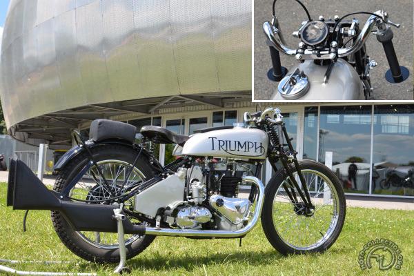 Collection Moto  La Triumph Speed Twin à compresseur des records de 1938