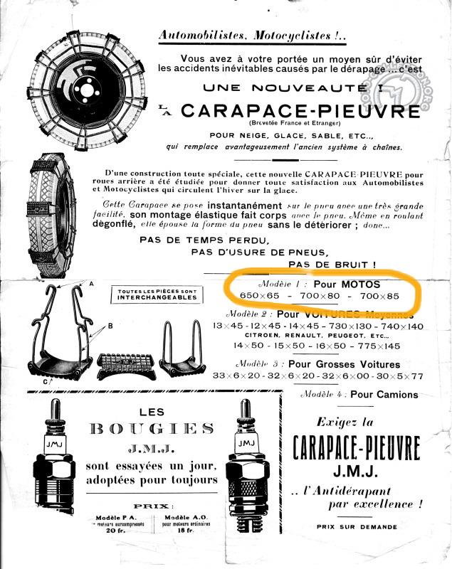 """Publicité """"La carapace-pieuvre"""" en 1920"""
