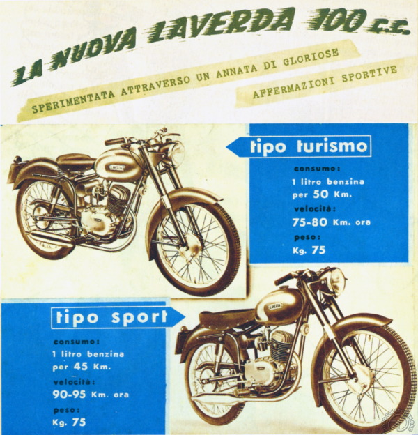 1953 : le nouveau 100 cm3 arrive en version utilitaire et sport.