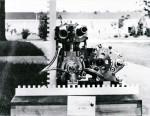 NSU 50 KW, un moteur étonnant avec des valves rotatives à l'admission et à l'échappement et un compresseur Wankel (ici absent).