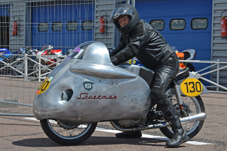 C'est cette Sportmax ex Walter Reicher, prêtée par le musée d'Hockenheim et parfaitement d'origine, que vous pourrez admirer à Montlhéry à l'exposition consacrée aux motos de records les 23 et 24 juin 2018.