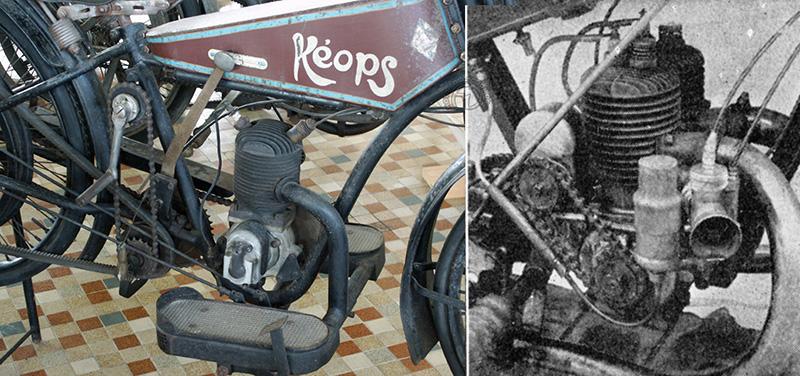 Kéops 1922 et moteur Harrissard bicylindre deux temps de 1926