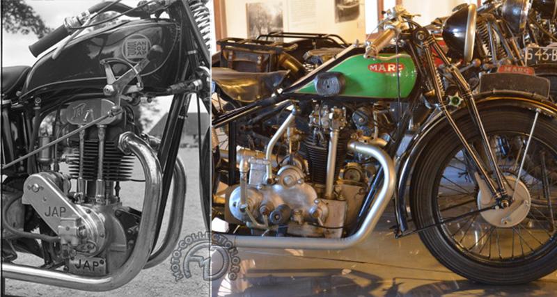 1930 : Sansoupap à moteur 250 JAP / Marc à bloc moteur Chaise 350.