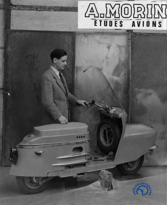 André Morin en personne sur une des premières publicités pour le 175 AMC où la nouvelle coque ne possède pas encore ses ouïes d'aération du moteur. (doc Frédéric Tison)