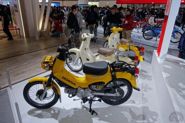 Le Super Cub se décline dès les années 60 en versions trail (Hunter Cub) et voici la dernière édition présentée au salon de Tokyo, le CC 110.