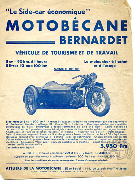 Motobécane 500 R5 Bernardet 1938