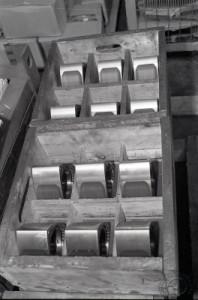 Un plateau de rotors prêts à être montés.