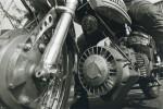 La turbine de refroidissement à l'avant du moteur du Sachs Hercules est particulièrement impressionnante.