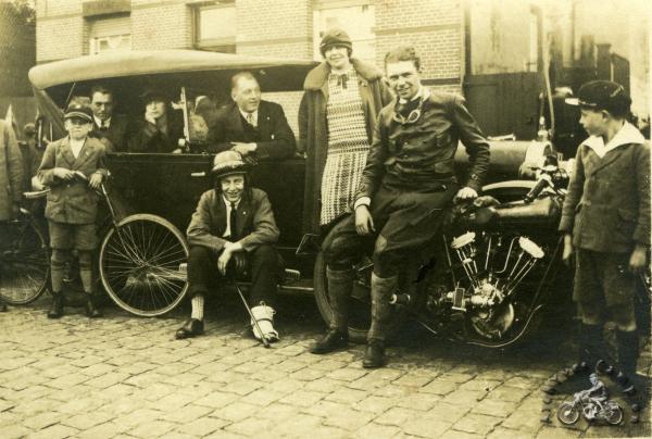 La version Super Sport 1925 toujours à moteur British Anzani, en Belgique en 1926. (archives Yves Campion)