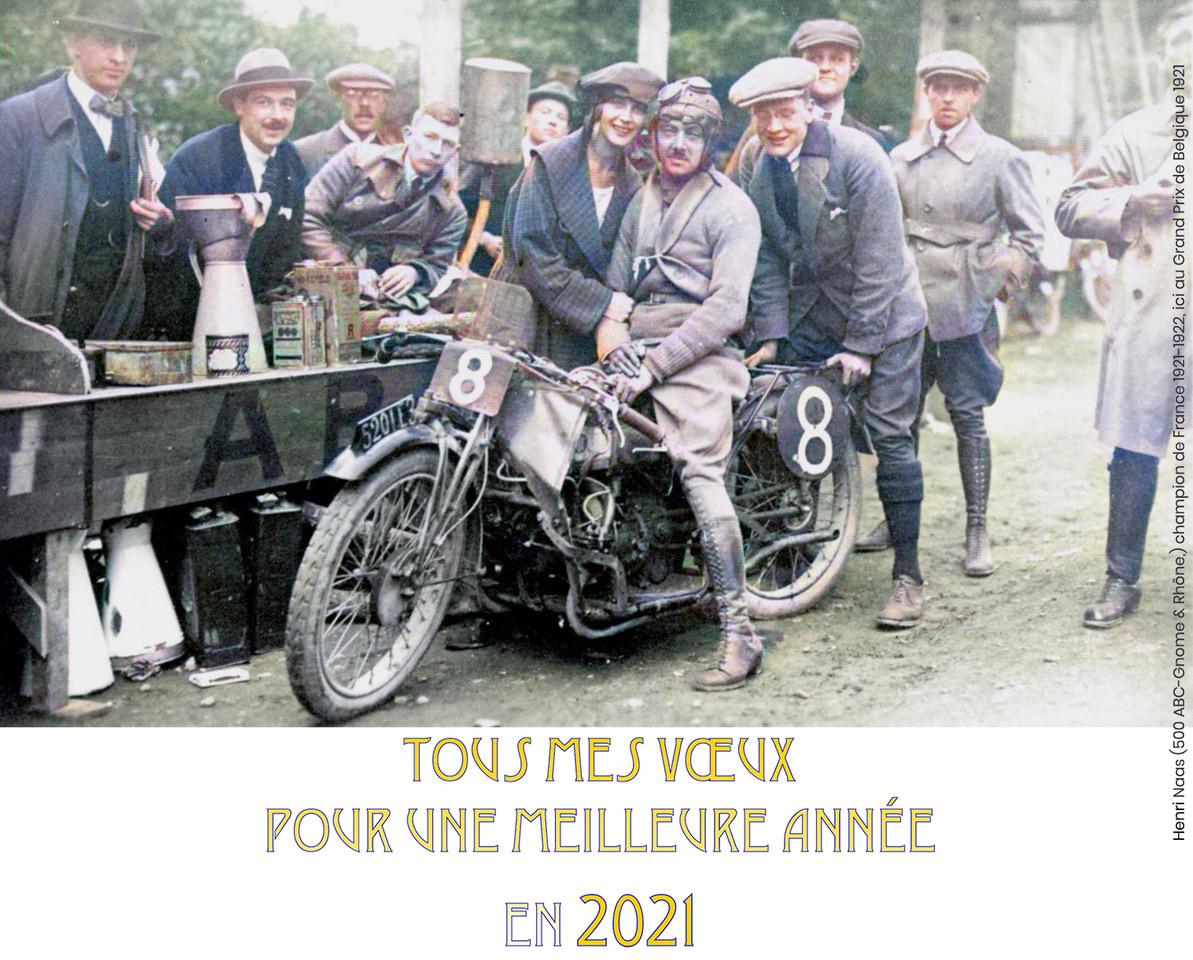 Collection Moto  Tous mes voeux pour une meilleure année en 2021