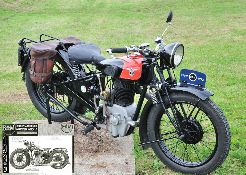 La 500 BAM de 1933 alias FN M90 et son prospectus de 1935.