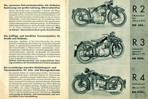 Ce catalogue allemand de 1936 est le seul ou apparaît la 300 R3.