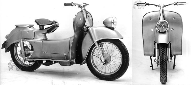 BMW fait une première timide étude en 1953, mais on voit bien que le cœur n'y est pas !