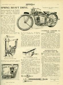 La Beatty & Claxton dans le Motor Cycle du salon de Londres, le 25 octobre 1923 - Cliquer pour agrandir -