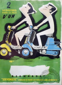 L'affiche du Cabri 100 de 1955, l'un des derniers modèles produits.