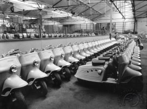 Un bel alignement de Bernardet 125 Y52 vendus par la manufacture de Saint Etienne sous label Hirondelle.