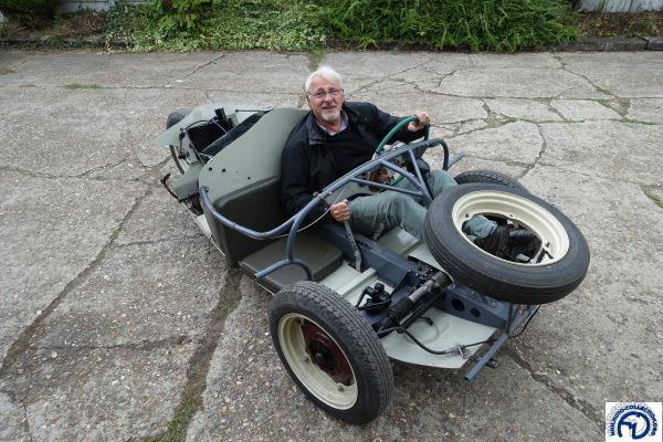 J'ai eu l'honneur des premiers tours de roues sur le cyclecar à moteur Terrot RGST qui fera sa première réapparition à Rétromobile.