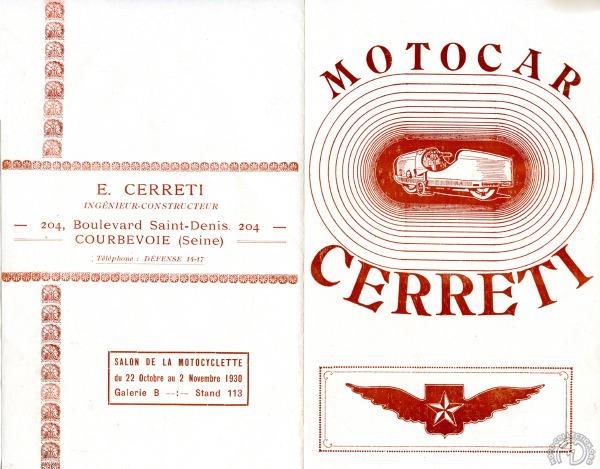 Prospectus de Cerreti pour 1930. (archives Claude Scalet)