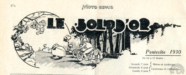 Outsider très attendu au Bol d'Or 1930, le Cerreti n'y put courir, et ne figura que le dessin des en-têtes de Moto Revue annonçant l'épreuve.