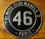 Cette plaque de la même époque aurait quand même été bien sur la moto  d'Augusto Rossi en 1922…
