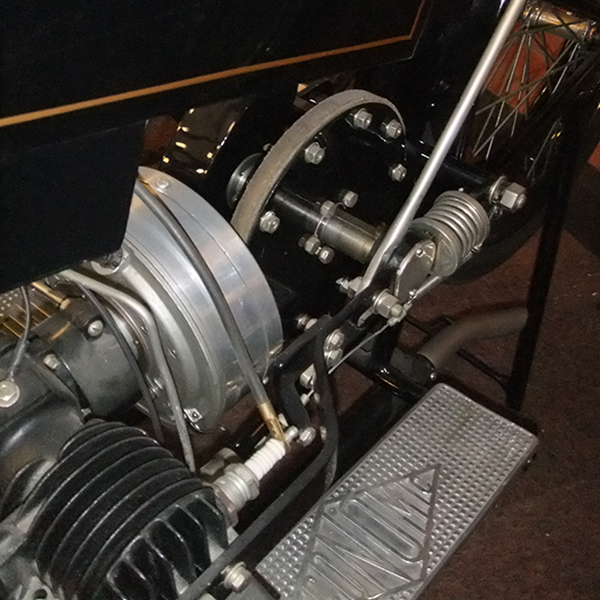 Une vue sur la transmission à friction