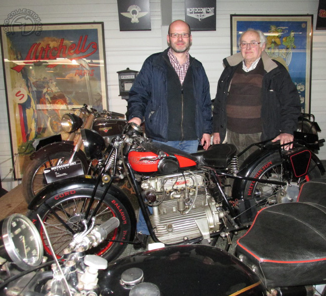 Jean-Baptiste et Daniel Chapleur au musée d'Amensale le 8 avril 2015
