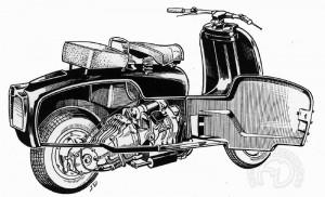 En 1952, me Ducati Cruiser est une véritable révolution, mais cet excès de technologie causera sa perte.