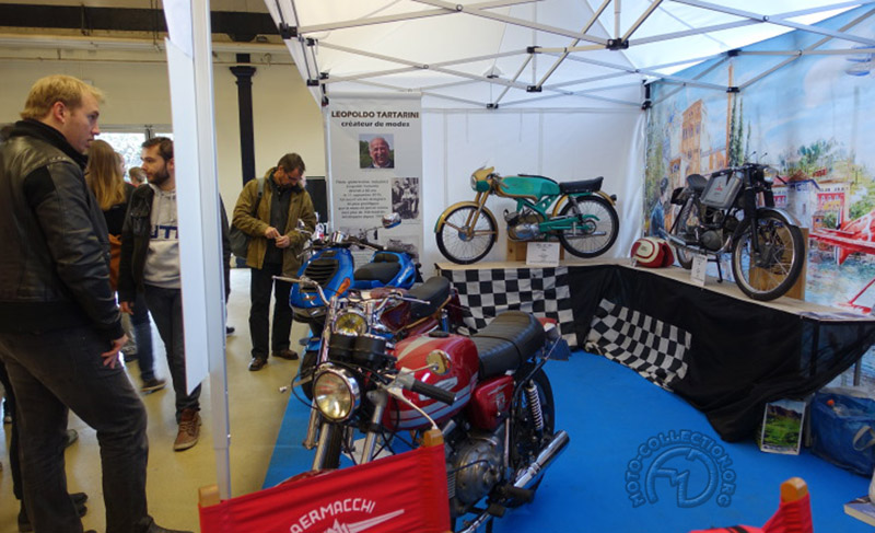 Le stand Aermacchi Ital Club… en hommage à Léopold Tartarini