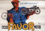 Favor a toujours fait beaucoup de publicité avec souvent de magnifiques graphismes comme sur cette affiche signée par Pierre Bellenger en 1937.