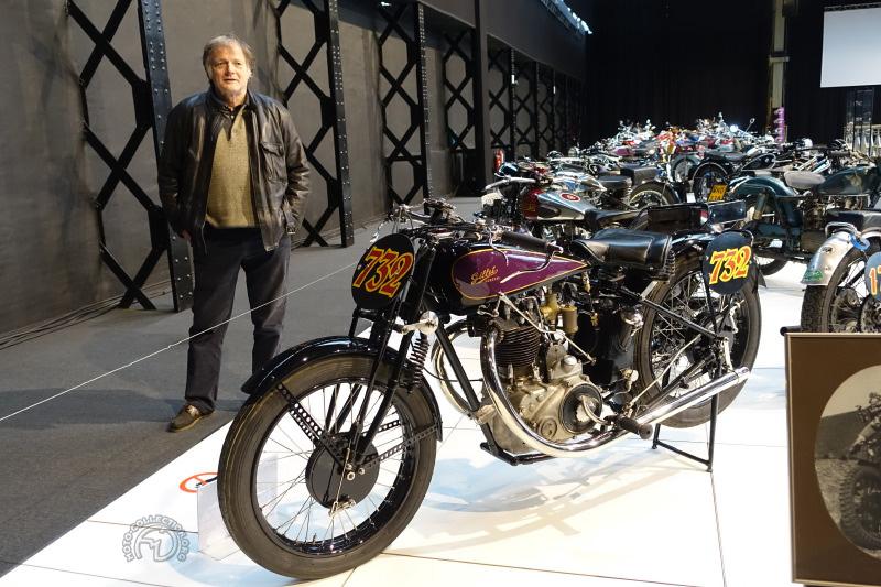 Yves Campion pose derrière sa Gillet 500 ACT de 1928