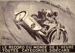Les records de la Gnome & Rhône 750 X attelée d'un Bernardet aviation magnifiquement illustrés par Géo Ham en 1935.