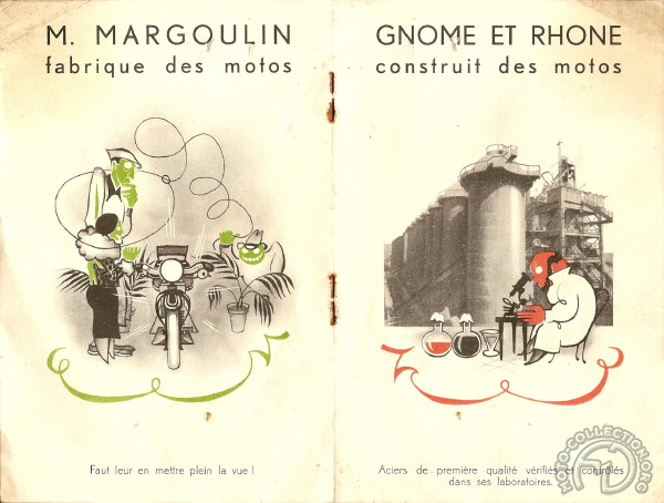 Collection Moto  Gnome & Rhône : en BD et en Chanson !