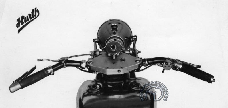 Le guidon Dehne de 1930 présenté par Hurth, fabricant de boîtes de vitesses.