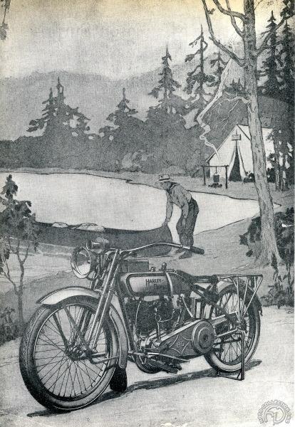 1917: Les Harley Davidson débarquent en France