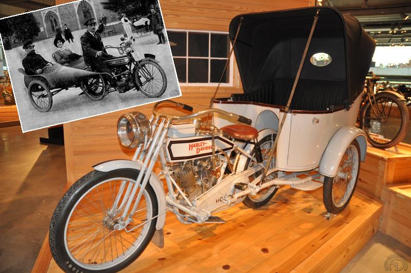 Collection Moto  Harley et un italien inventent la moto à 4 roues