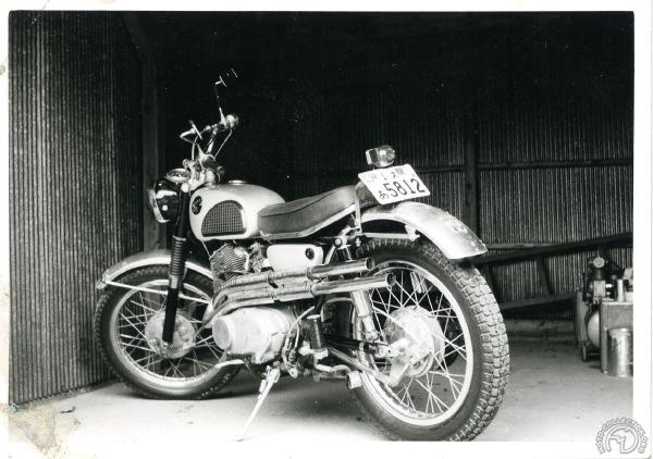 Une Honda CL250 au Japon en 1962.