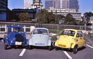 Lors d'une réunion à Tokyo du très actif  Japan Isetta club.