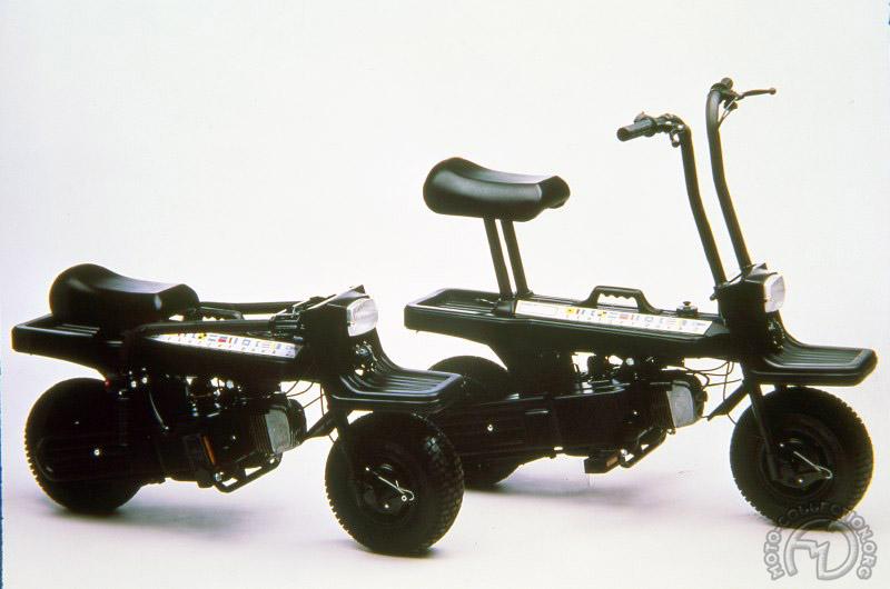 Un concept novateur habillé de mousse de caoutchouc mousse qui valent à cet Italjet Pack de 1980 d'être exposé au musée d'art moderne de New York.