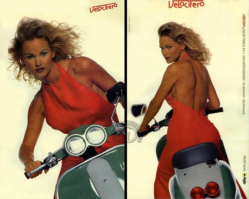 Le sublime grand catalogue du Velocifero (une belle approche du scooter rétro, en 1995