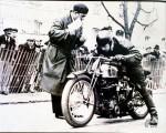 Georges Monneret au départ de l'un de ses records sur la 1000 Kœhler Escoffier