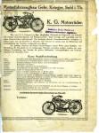 Prospectus Krieger Gnadig de 1922