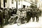 Séduit par la Krieger Gnädig de Lovenich ici au guidon en 1921, Robert Sexé lui rachète sa machine après la course.
