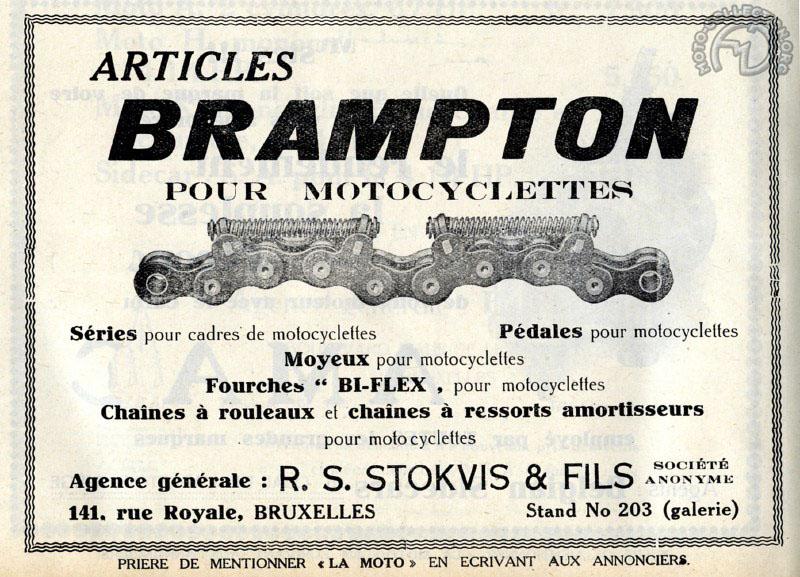 """La chaîne Brampton avec système amortisseur présentée dans le journal """"La Moto"""" en 1921"""